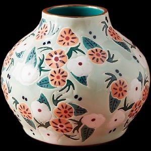 Anthropologie Mathilde Floral Vase